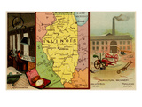 Illinois Prints by  Arbuckle Brothers