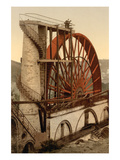 Laxey, the Wheel, Isle of Man, England Posters