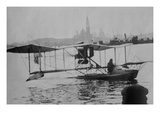 Biplane Land in the Canals of Venice; Captain Ginocchio's Airplane Posters