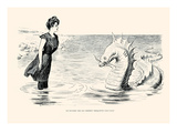 No Wonder the Sea Serpent Frequents Our Coast Prints by Charles Dana Gibson