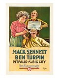 Pitfalls or a Big City Posters by Mack Sennett