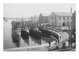 Us Torpedo Boats in the Wet Dock, Norfolk Navy Yard, Va. Art