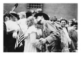 Parting Kiss from a Doughboy Leaving for Europe with His 12th New York Regiment Posters