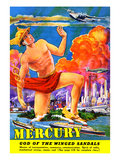 Mercury, God of the Winged Sandals Prints by Frank R. Paul