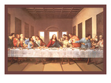 The Last Supper Print by  Michaelangelo