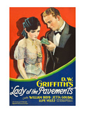 Lady of the Pavements Print by D.W. Griffith