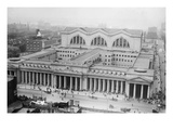 View of the Since Demolished Pennsylvania Railroad Station as Seen from Gimbels Prints