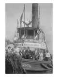 Suffragettes Take to the River in a Tug Boat to Post Banners in Search of Equality Print