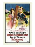 Riders of the Purple Cows Print by Mack Sennett