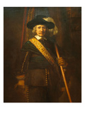 The Standard Bearer, Floris Sloop Art by  Rembrandt van Rijn