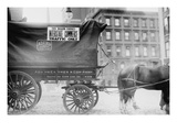 Horse and Wagon with Sign Saying That it Is Being Used in Interstate Commerce Only Photo