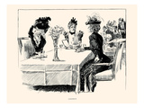 Luncheon Poster by Charles Dana Gibson