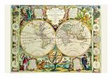 Mappa Monde Carte Universelle De La Terre Posters by Jean Baptiste Nolin
