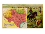Texas Premium Giclee Print by  Arbuckle Brothers