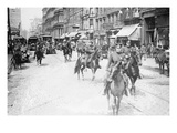 Chief of Police Copelan Mounted on Horseback Protects Trolleys in Cincinnati Strike Premium Giclee Print