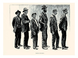 Waiting for Bread Prints by Charles Dana Gibson
