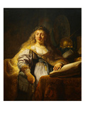 Minerva Prints by  Rembrandt van Rijn