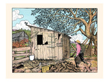 Mr. Sneekum Carried the Pigs to His Own Pen Prints by Luxor Price