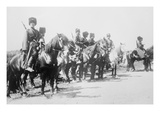 Mounted Russian Cossacks Scan the Battlefield Prints
