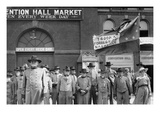 Confederate Veterans Reunion; Old Men in Un Uniforms Front of Nashville Convention Hall Market Posters