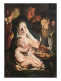 The Holy Family with Shepherds Posters by Jacob Jordaens
