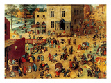 Children's Games Complete Premium Giclee Print by Pieter Breughel the Elder