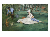 The Monet Family in their Garden at Argenteuil, Prints by Édouard Manet