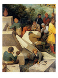 Tower of Babel - Detail Print by Pieter Breughel the Elder