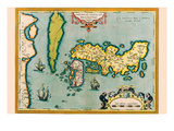 Description of the Japanese Islands Posters by Abraham Ortelius