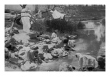Washing Clothing at Hot Springs in Mexico Print by  Jackson