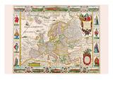 Europa Kunstdrucke von Nicolas Visscher