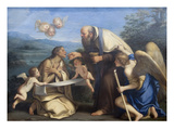 The Last Communion of St. Mary of Egypt Premium Giclee Print by Marcantonio Franceschini