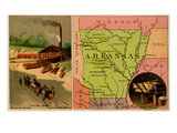 Arkansas Premium Giclee Print by  Arbuckle Brothers