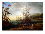 Claude Lorrain - Trojan Women Setting Fire to their Fleet - Poster