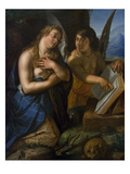 Magdalene and Angel Poster by Hendrik Goltzius