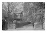 Residential Tree Lined Street in Germantown Premium Giclee Print