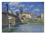 Bridge of Villeneuve-La-Garenne Posters by Alfred Sisley