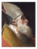 Head of a Bishop with Mitre Print by Gaetano Gandolfi