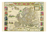Europe Posters by Willem Janszoon Blaeu