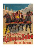 "Queen of Sheba ""La Glorieuse Reine De Saba"" Poster"