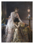 After the Ball or Confidence Poster by Alfred Emile Léopold Stevens