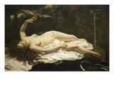 Woman with a Parrot Posters par Gustave Courbet