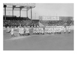 New York Yankees Show Support for the Troops in World War I by Marching around the Stadium Print