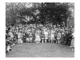 Easter Egg Rolling Children Pose on the White House Lawn Prints