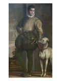 Boy with Greyhound Poster von Paolo Veronese