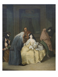 The Meeting Posters by Pietro Longhi
