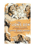 Jungle Mystery - the Lion's Den Premium Giclee Print
