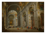 Interior of St. Peter's in Rome Premium Giclee Print by Giovanni Paolo Panini