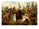 Native American Sioux Dance Poster by F.W. Kuhnert
