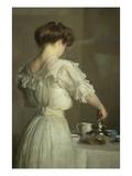 Teeblätter Giclée-Premiumdruck von William McGregor Paxton